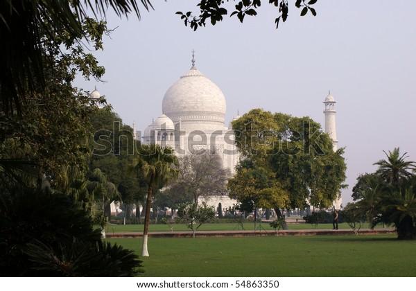 Taj Mahal with garden; Agra/India