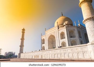 Taj Mahal at golden sunset, Agra, India