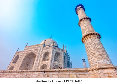 Taj Mahal, India - architectural fragment and details of the Grand Palace in Agra