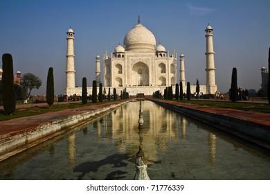 Taj Mahal - India, The Taj Mahal is a mausoleum at Agra in northern India.