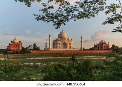 Taj mahal landmark agra india