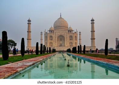 Taj Mahal landmark at Agra India