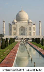 Taj Mahal the marble mausoleum of the city of Agra, in Uttar Pradesh, India