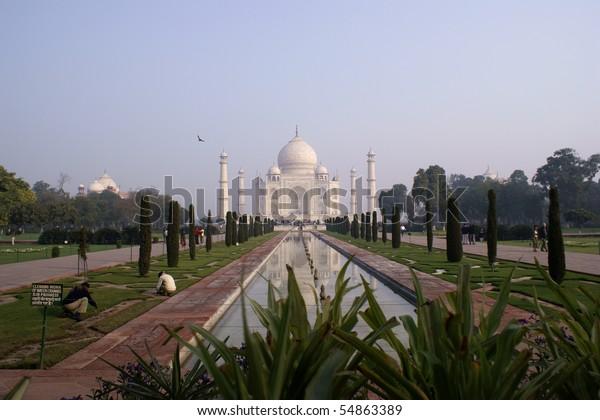 Taj Mahal - Mausoleum in Agra, India