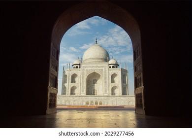 Taj mahal mausoleum in the city of agra in the uttar pradesh province in India