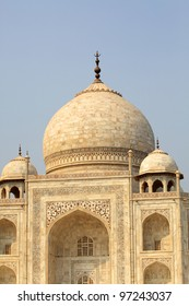 The Taj Mahal is a mausoleum and a mosque, located in Agra
