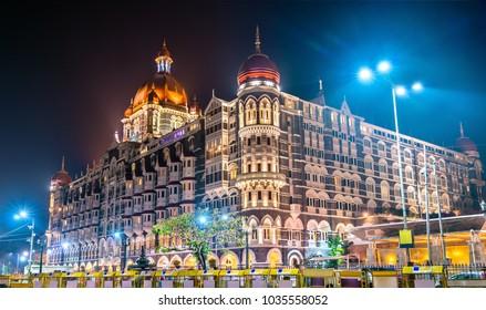 Taj Mahal Palace, a historic builging in Mumbai, India. Built in 1903