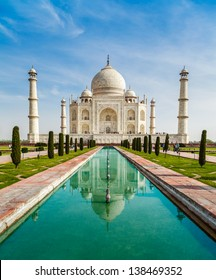 Taj Mahal with reflection in water