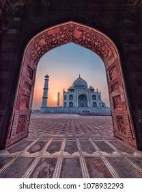 Taj Mahal in sunrise light, Agra, India