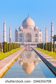 Taj Mahal at sunset - Agra, India