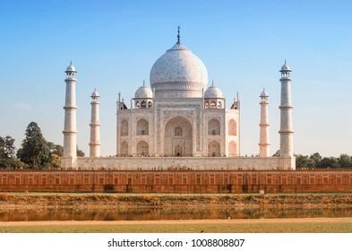 Taj Mahal in sunset light in Agra, Uttar Pradesh, India