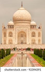 Taj Mahal vertical view, Agra, India