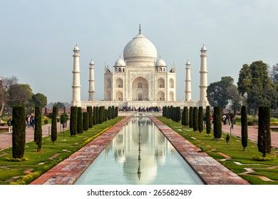 The Taj Mahal  is a white marble mausoleum located in Agra, Uttar Pradesh, India.