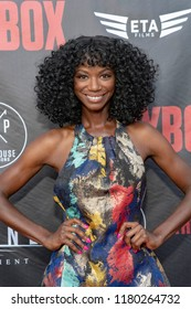"""Taja V Simpson attends  Skyline Entertainment's  """"The ToyBox"""" Los Angeles  Premiere at Laemmle's NoHo 7, North Hollywood, California on September 14th, 2018"""
