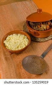 Tajine with couscous