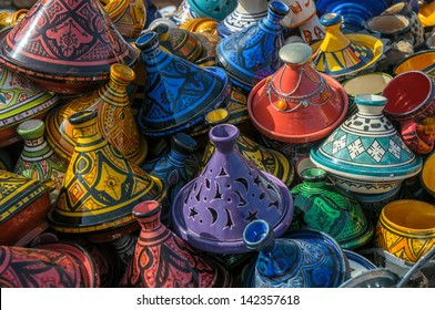 Tajines in the market, Morocco