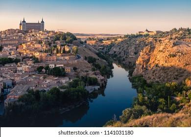 Tajo river as it passes through Toledo