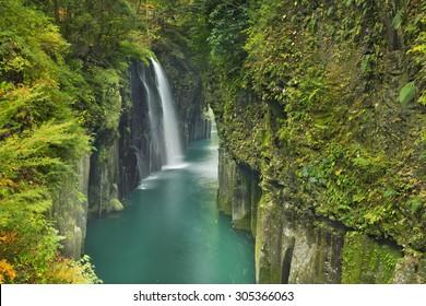 The Takachiho Gorge (Takachiho-kyo) on the island of Kyushu, Japan.