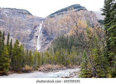 Takakkaw Falls in Autumn, Yoho National Park, Canadian Rockies