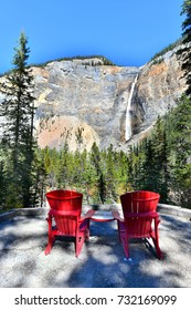 Takakkaw falls is the second highest waterfall in Western Canada, Yoho National Park,British Columbia.