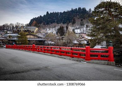 Takayama Old Town, Gifu, Japan - 28 February 2019 : The one of the best ancient city that keep most of villages building remain in Japanese styles.