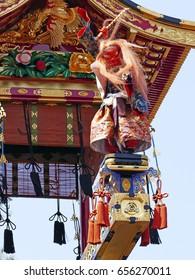 the Takayama spring festival, Japan