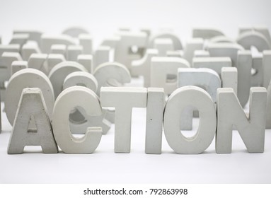 Take action block word