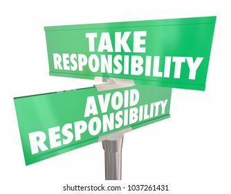 Take Avoid Responsibility Signs Accountability Choice 3d Illustration