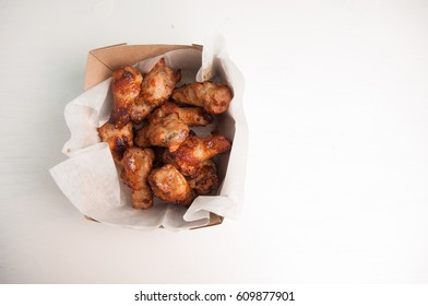take away or take out bbq chicken wings for food truck style