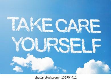 Take care yourself a cloud  massage on sky