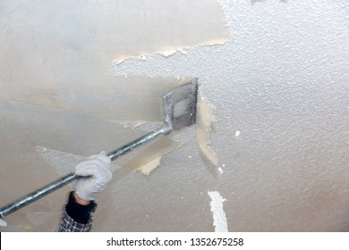 Take off in the popcorn ceiling home wall texture removal