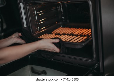 Take out biscuits from the oven