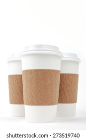 Take out paper cups with lids and holders