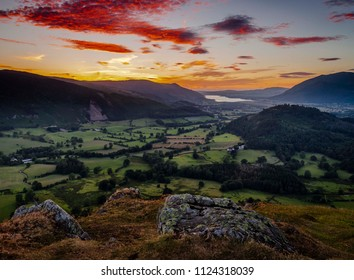 Taken at the Catbells viewpoint overlooking Bassenthwait lake, Lake District, Cumbria, UK 06/22/2018