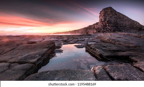 Taken a day before summer Solstice 2018 this is a panoramic of Nash Point Coastline in South Wales UK which is part of the Glamorgan Hertiage Coast and Wales Coastal Path.