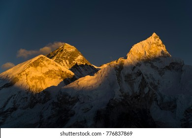 Taken from Kala Patthar just next to Gorak Shep and Everest Basecamp. From left to right is Mt Changtse, Mt Everest and Mt Nuptse