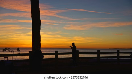Taken at LA Santamonica. Beautiful Sunset. Will never forget.