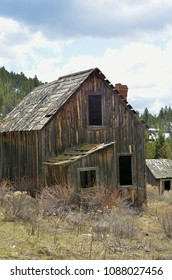 Taken near in and around the former mining town of Elkhorn, Montana. One of the few buildings still standing.