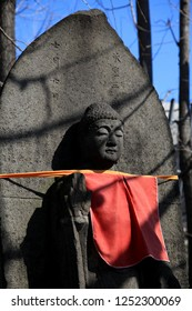 Taken on 29th February 2012 in Asakusa, Tokyo, Japan. A stone statue of Buddha at the Senso-ji Temple in Asakusa.