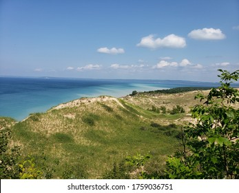 Taken at Sleeping Bear Dunes, this is a beautiful snapshot of the dunes and beaches of Lake Michigan.