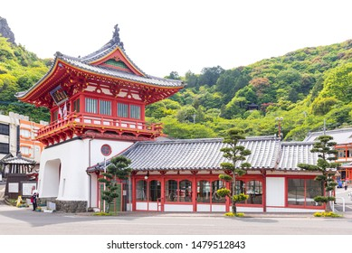 Takeo city, Saga, Japan - May 4, 2019: Takeo Onsen is hot spring town as an onsen destination in Saga, Japan. tourists and locals can enjoy Takeo Onsen's waters at several public bathhouses