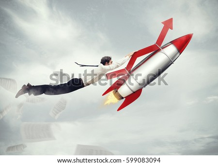 Take-off business success. 3D Rendering