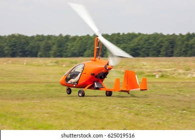 Takeoff of gyroplane