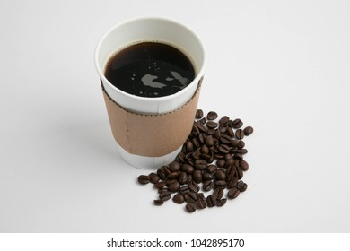 Take-out cups and coffee
