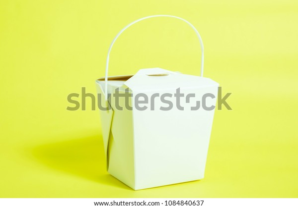 Takeout. Lunch box. Paper box for takeout.