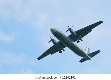 Takes off aero palne