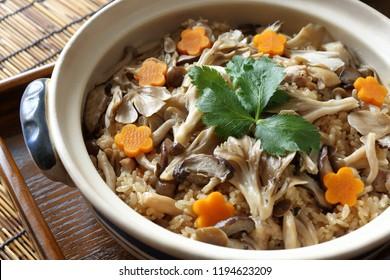 Takikomi gohan, mushroom mixed rice
