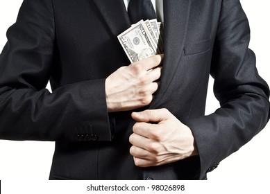 taking bribe money