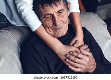 Taking care of the elderly during a pandemic COVID-19. Self-isolation of the elderly. Support for older people during quarantine