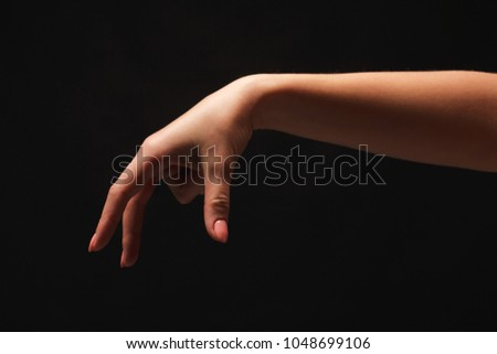 Taking Female Hand Grab Some Item Stock Photo (Edit Now